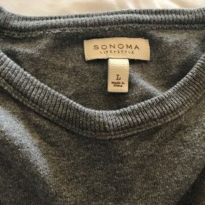 Blue and gray men's sweater